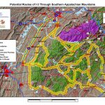 Potential Routes of I-3 Through Southern Appalachian Mountains