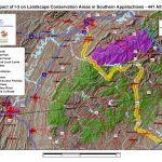 Impact of I–3 on Landscape Conservation Areas in Southern Appalachians - 441 Alt 1b