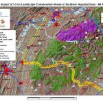Impact of I-3 on Landscape Conservation Areas in Southern Appalachians - US 64 Alt 1