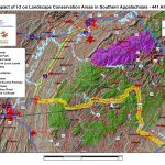 Impact of I-3 on Landscape Conservation Areas in Southern Appalachians - 441 Alt 2